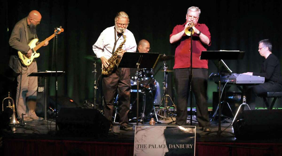 The Roger Ball Quintet performs a tribute to Michael Brecker at the Palace Theatre in Danbury during the Connecticut Film Festival Sunday, April 29, 2012. Ball, left center, is from the Average White Band.