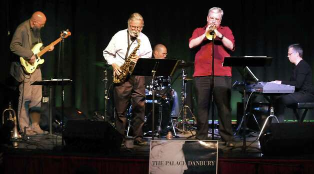 The Roger Ball Quintet performs a tribute to Michael Brecker at the Palace Theatre in Danbury during the Connecticut Film Festival Sunday, April 29, 2012. Ball, left center, is from the Average White Band. Photo: Michael Duffy / The News-Times