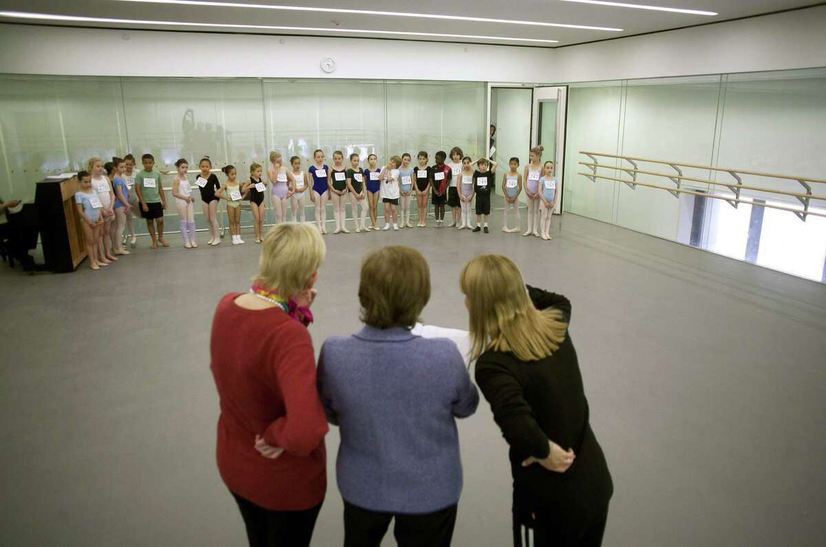 NEW YORK, NY - APRIL 27: Faculty members audition young girls and boys during tryouts for the School of American Ballet April 27, 2012 in New York City. The prestigious school has trained the majority of New York City Ballet's dancers as well as hundreds of dancers for other major ballet companies around the world.