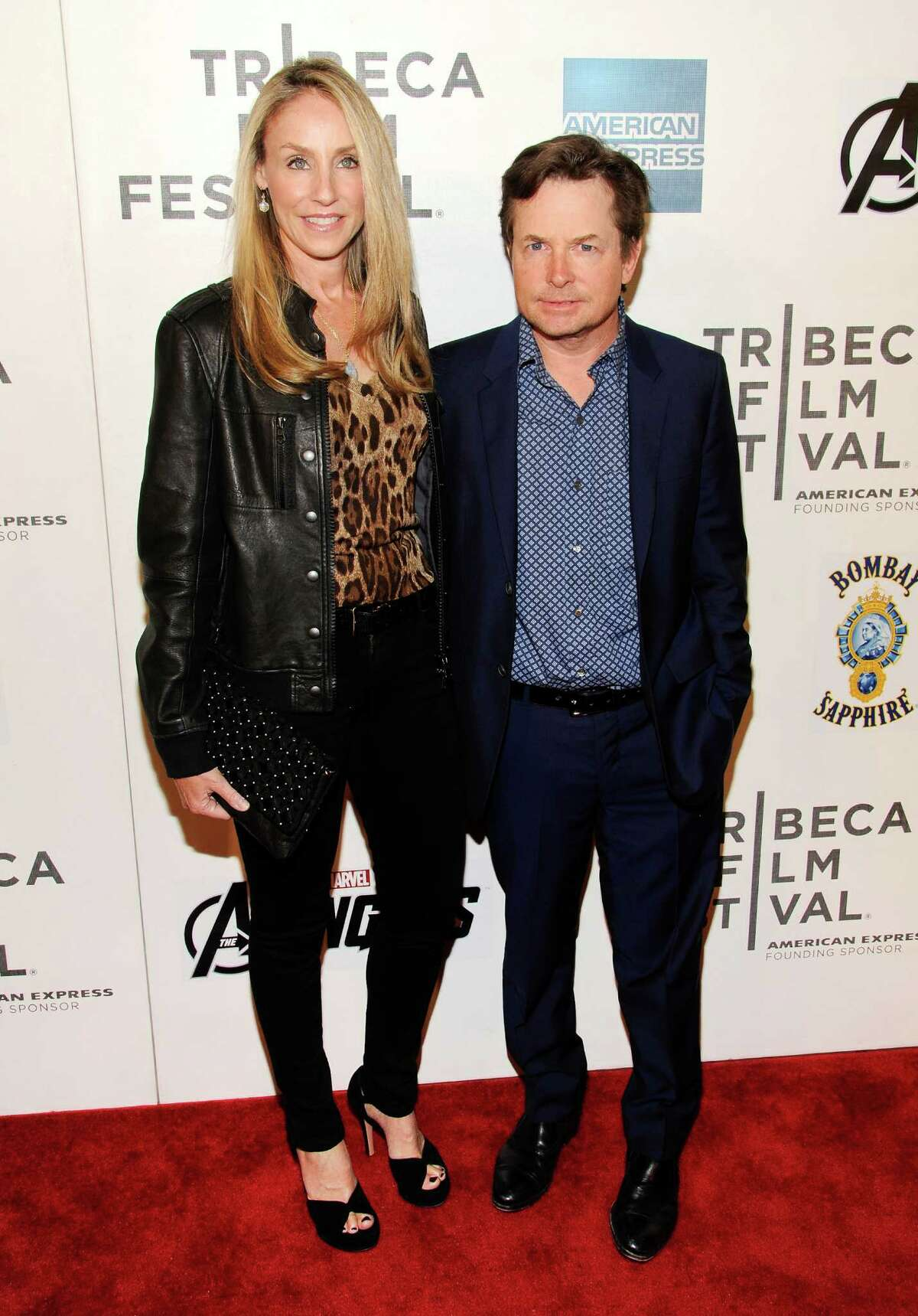 Actors Michael J. Fox and Tracy Pollan attend the premiere of