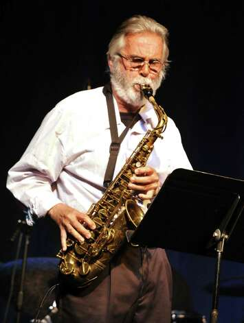 Roger Ball performs a tribute to Michael Brecker at the Palace Theatre in Danbury during the Connecticut Film Festival Sunday, April 29, 2012. Ball is from the Average White Band. Photo: Michael Duffy