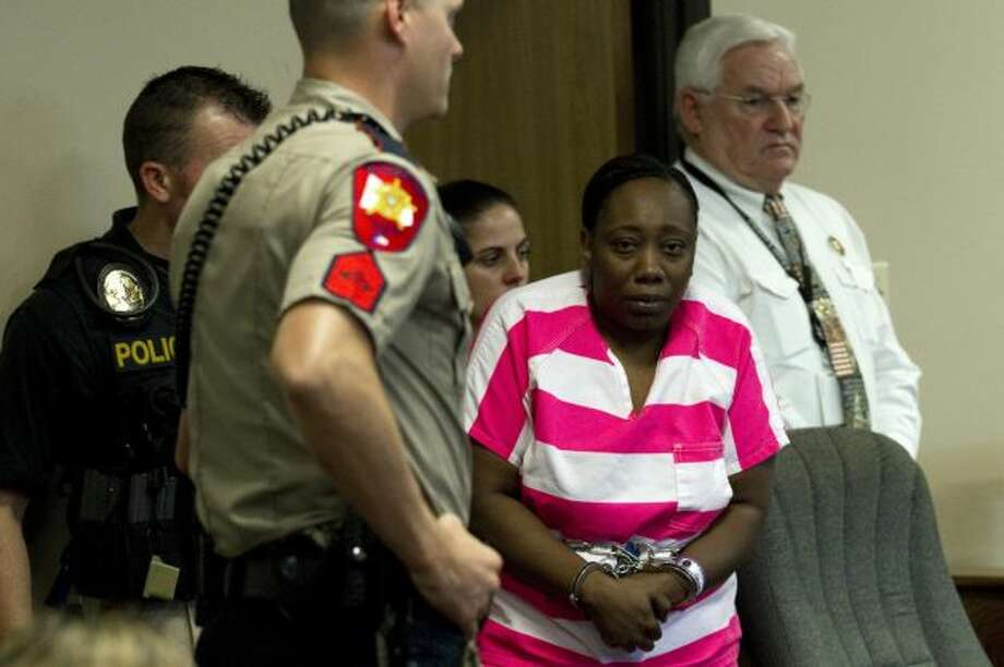 Verna McClain appears in court on Thursday. (Brett Coomer/Chronicle) Photo: Houston Chronicle