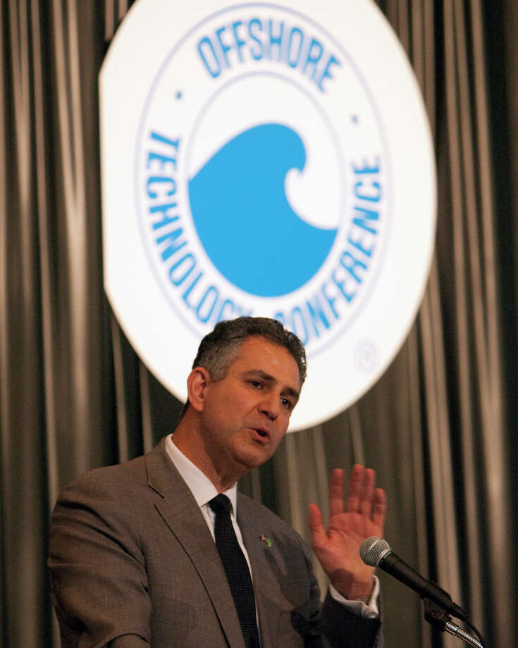 Under Secretary of Commerce for International Trade Francisco Sanchez speaks during the 2012 Offshore Technology Conference at the Reliant Center Monday, April 30, 2012, in Houston. Photo: Cody Duty, Houston Chronicle / © 2011 Houston Chronicle
