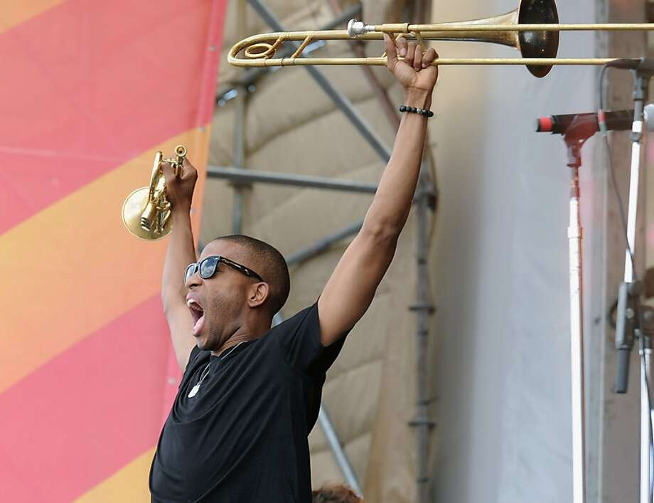 NEW ORLEANS, LA - APRIL 29:  Trombone Shorty & Orleans Avenue performs during the 2012 New Orleans Jazz & Heritage Festival Day 3 at the Fair Grounds Race Course on April 29, 2012 in New Orleans, Louisiana.  (Photo by Rick Diamond/Getty Images) Photo: Rick Diamond, Getty Images