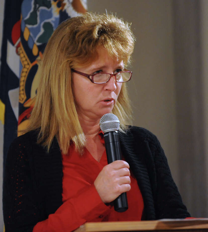Saratoga County Chamber member Denise Romeo during a press conference at the  State Military Museum in Saratoga Springs N.Y., Monday, Dec. 12, 201.  Romeo helps to coordinate and host a Respite program for members of New York State's National Guard who have been deployed overseas since 9/11. (Lori Van Buren / Times Union archive) Photo: Lori Van Buren / 00015755A