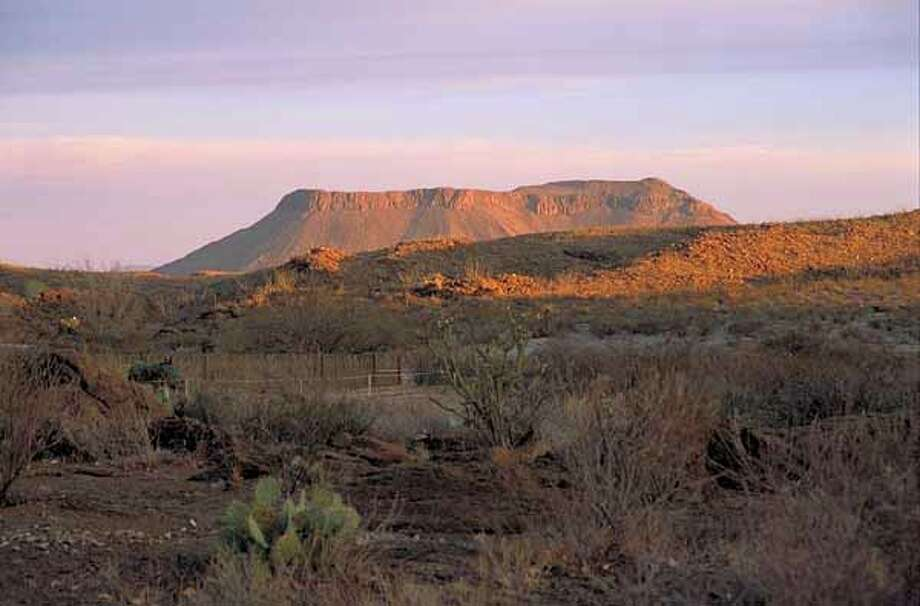 Big Bend Ranch at State Park in Texas - mesa / handout