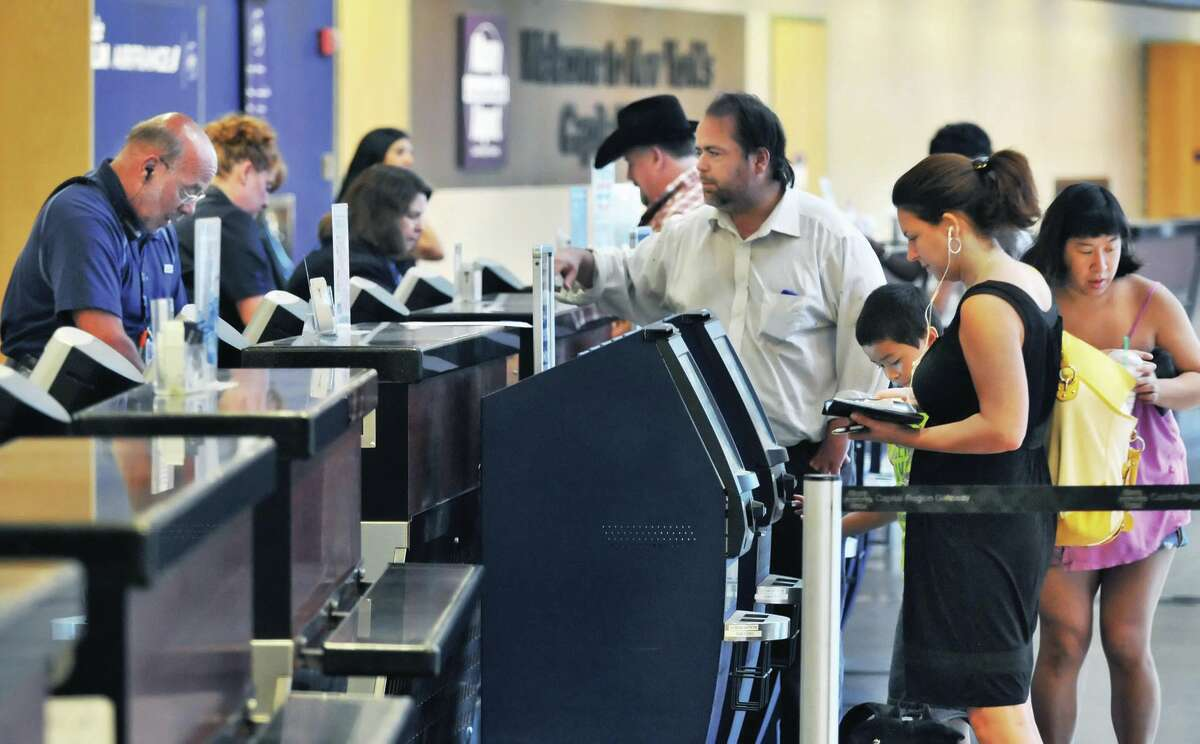 The cost per passenger at Albany International Airport is low, something that helps airlines keep expenses down, said airport spokesman Doug Myers. The average air fare in the fourth quarter in Albany was $403.( Times Union Archive )