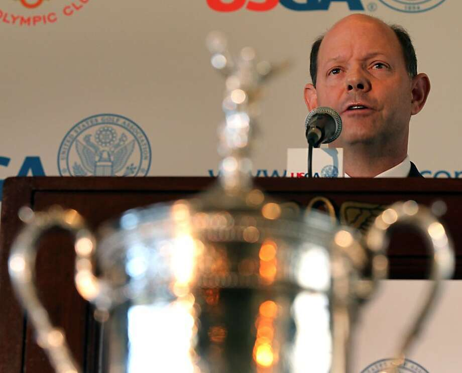 Mike Davis of the USGA talks to the media during a media day press conference about the changes to the Olympic Club golf course Monday, April 30, 2012, in San Francisco, Calif. Photo: Lance Iversen, The Chronicle