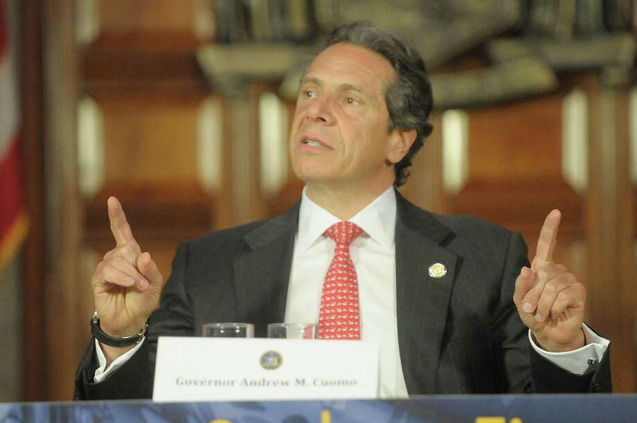 Governor Andrew Cuomo addresses those gathered during the initial meeting of the New NY Education Reform Commission at the capitol on Monday, April 30, 2012 in Albany, NY.    (Paul Buckowski / Times Union) Photo: Paul Buckowski