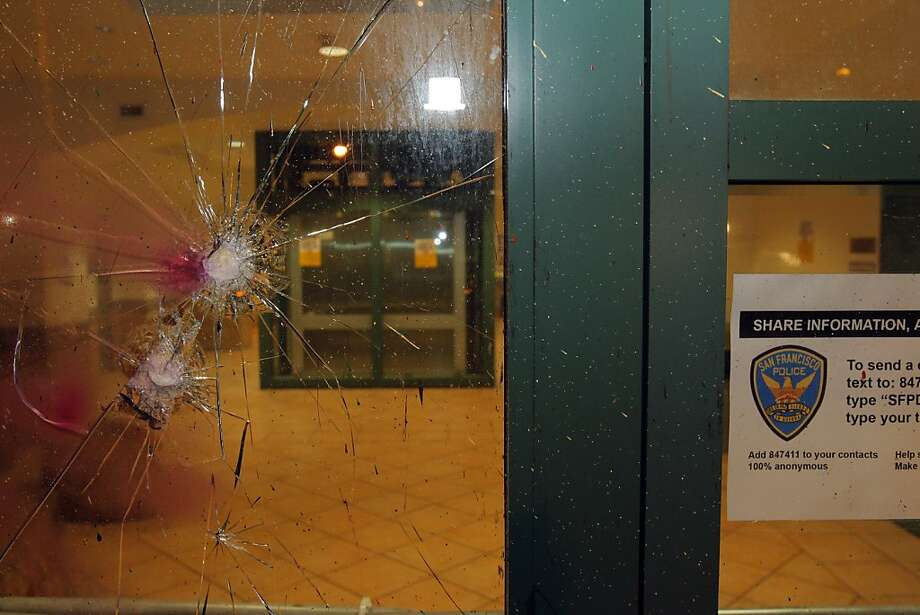 Police and merchants were hit by vandals along Valencia Street in San Francisco, Calif., on Monday, April 30. 2012. Photo: Carlos Avila Gonzalez, The Chronicle