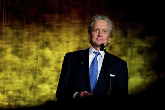Michael Douglas appears onstage during the International Jazz Day Concert held at the United Nations General Assembly Hall in New York, Monday, April 30, 2012. Photo: Charles Sykes, AP / FR170266 AP