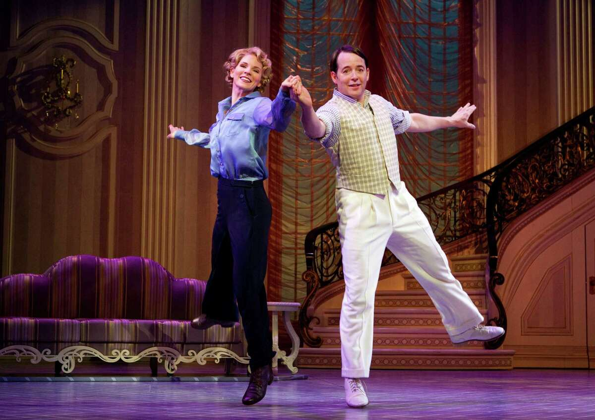 In this publicity photo provided by Boneau/Bryan-Brown, Kelli O'Hara, left, and Matthew Broderick perform in the new musical comedy