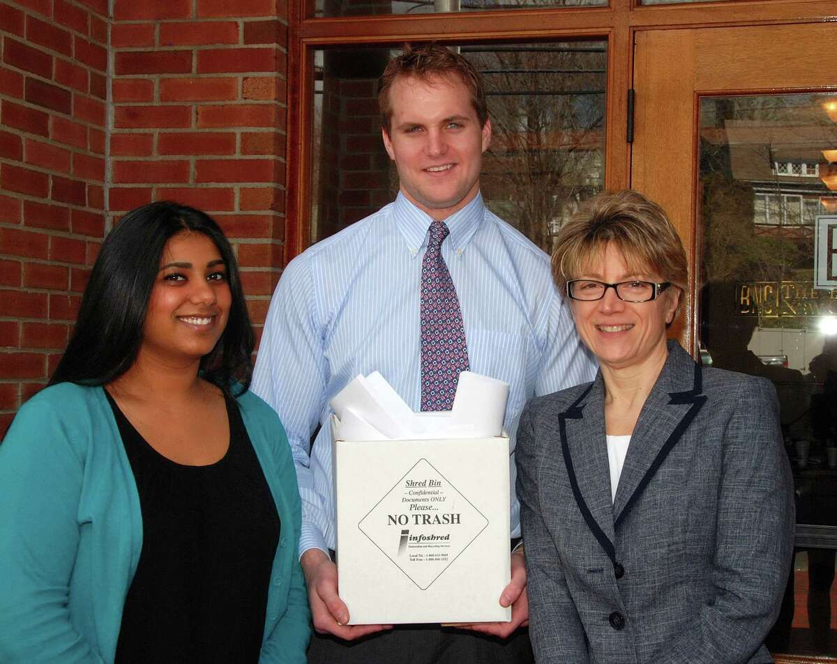 . If you choose to include this photo of staff, names left to right are: Pictured are staff members Rebecca Gill, Rob Kunces and Diana Koukides.
