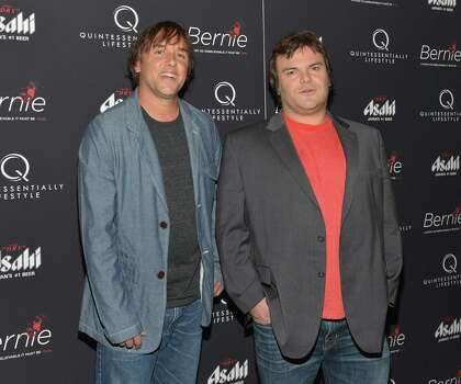 "Actor Jack Black, right, said he was persuaded to do ""Bernie"" after reading a ""really dark"" script from director Richard Linklater. Photo: Slaven Vlasic, Stringer / 2012 Getty Images"