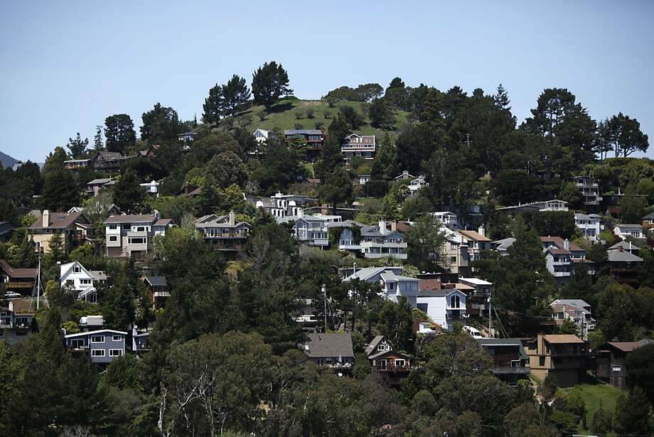 Mill Valley has been rated one of the top 20 best small towns in America by Smithsonian magazine. View of homes nestled in the hills of Mill Valley, California , on Friday, April 27th, 2012. Photo: Jill Schneider, The Chronicle