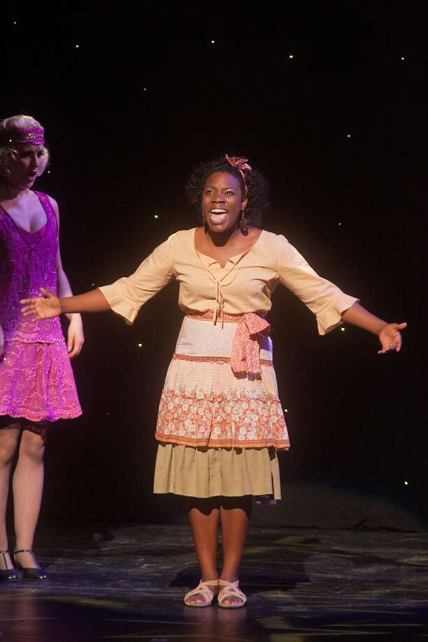 """Ayana Gaither of Spring Woods High School reprises Ti Moune from her school's production of """"Once on this Island"""" during a medley at the awards program. Photo: R. Clayton McKee / © R. Clayton McKee"""