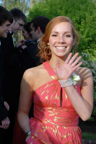Emilie Kushner gives a little wave as she heads for the NCHS Junior Prom. Photo: Contributed Photo