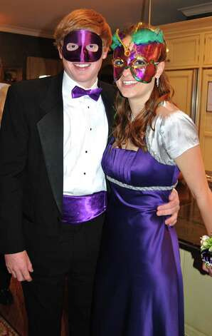 "Andrew Read and Cassidy Ward in ""masquerade"" attire for the NCHS Junior Prom.  Photo by Savannah Shepard. Photo: Contributed Photo"