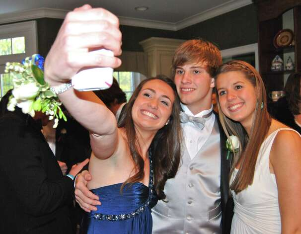 "Dana Defranco takes a ""selfie"" of herself with Zach Bubrosky and Kristin Laub.  Photo by Savannah Shepard. Photo: Contributed Photo"