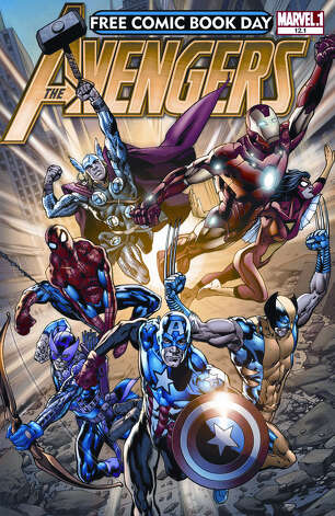 "Marvel Comics' ""Avengers"" will  be given out free on Free Comic Book Day, which is Saturday. Photo: Diamond Comic Distributors"