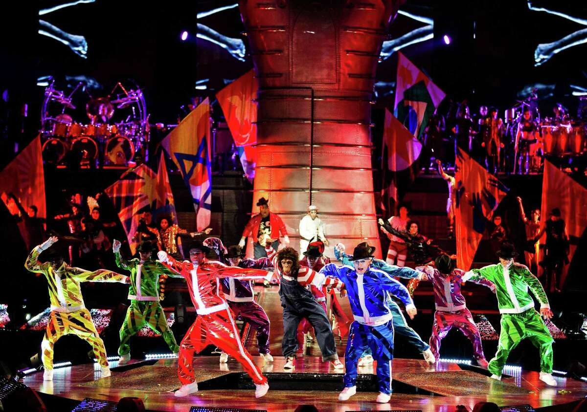 """""""Michael Jackson The Immortal World Tour"""" combines Jackson's music and choreography with the creativity of Cirque du Soleil. The show is in Hartford this week at the XL Center, and includes Connecticut native Desiree Bassett, 19, on guitar."""
