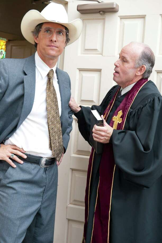 """Matthew McConaughey reconnected with """"Dazed and Confused"""" director Richard Linklater to play a sleazy lawyer in the dark comedy """"Bernie."""" Larry Jack Dotson, right, played the Rev. Woodard. Photo: Van Redin"""