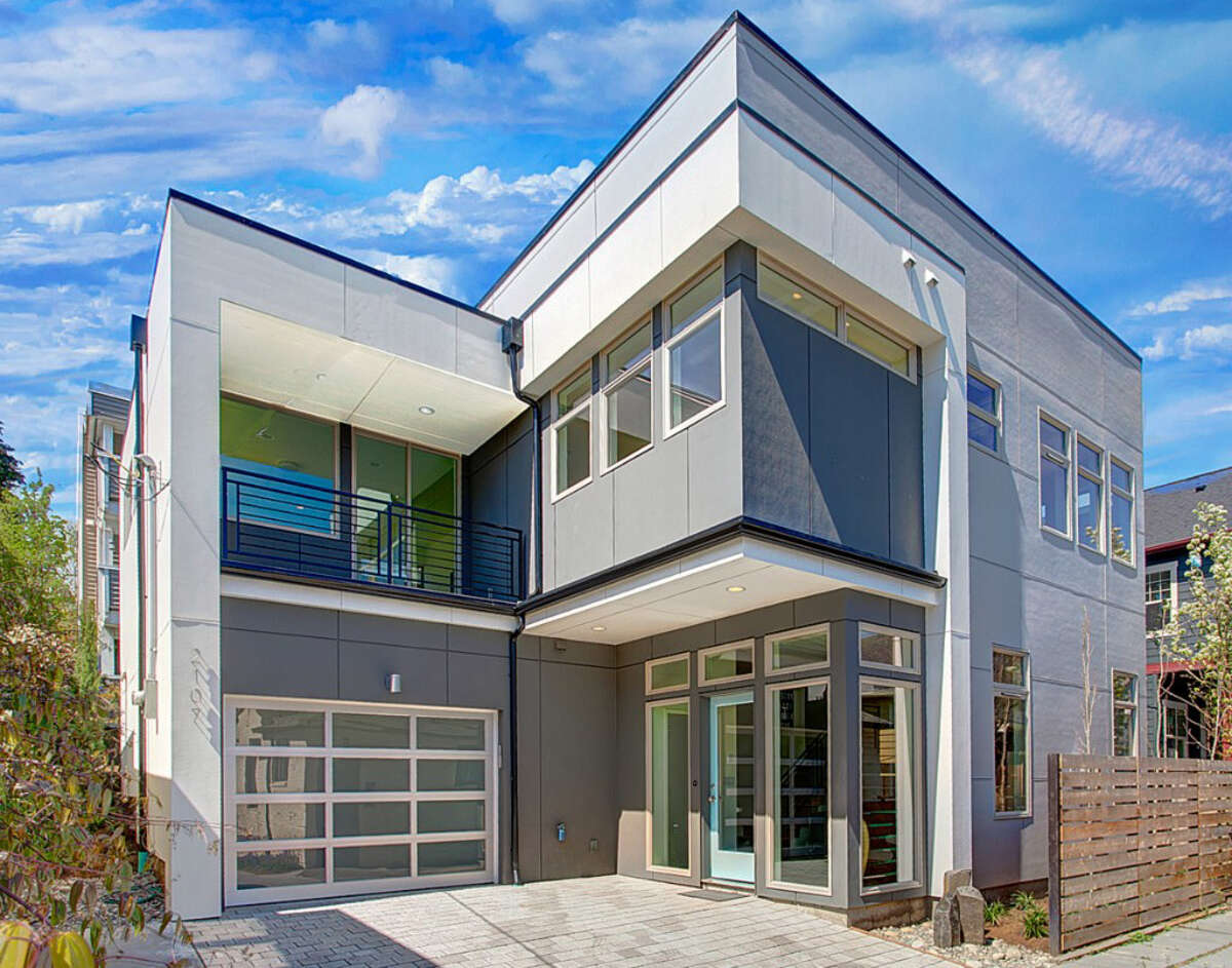 Queen Anne is one of Seattle's older neighborhoods but features some fancy contemporary homes. Here are a few for between $777,000 and $850,000, starting with 2107 2nd Ave. N. The 2,537-square-foot house, built in 2012, has three bedrooms and 2.25 bathrooms, including a huge master suite, concrete floors, wood stairs a 1,000-square-foot roof deck and a 2,478-square-foot lot. It's listed for $777,000, although a sale is pending. Listing courtesy Steve Kennedy/RE/Max Metro Realty