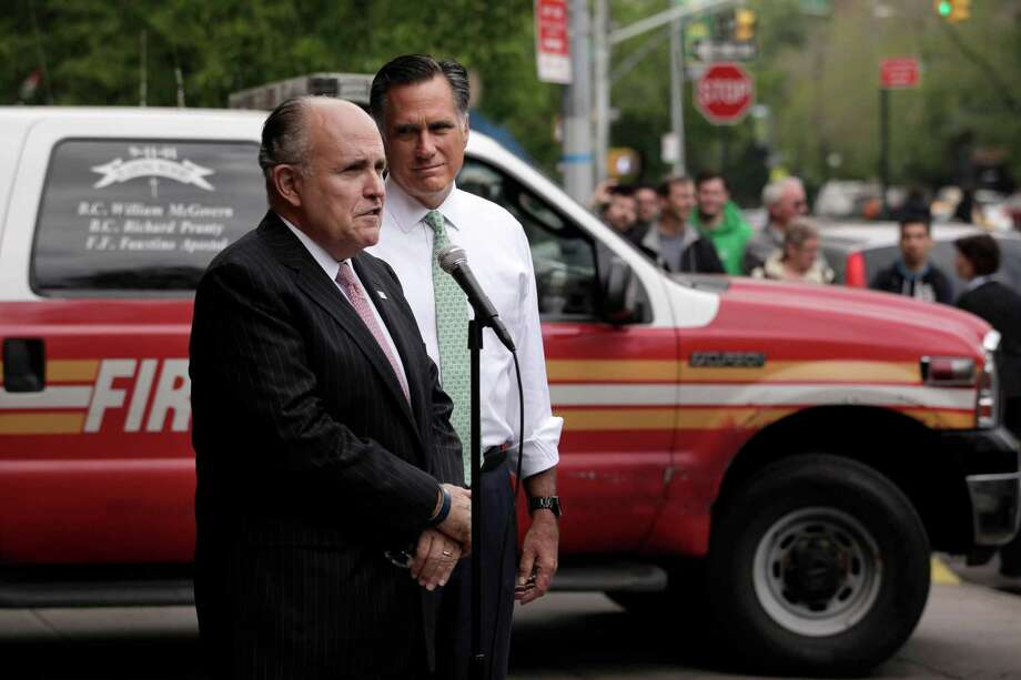 "Appearing on SNL was easy for ex- New York City Mayor Rudy Giuliani since he was right down the street. He was also on ""Seinfeld."" Photo: Jae C. Hong / AP"
