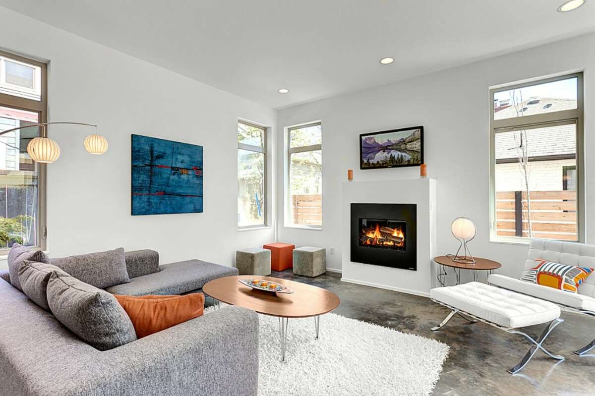 Living room of 2107 2nd Ave. N. The 2,537-square-foot house, built in 2012, has three bedrooms and 2.25 bathrooms, including a huge master suite, concrete floors, wood stairs a 1,000-square-foot roof deck and a 2,478-square-foot lot. It's listed for $777,000, although a sale is pending. Listing courtesy Steve Kennedy/RE/Max Metro Realty.