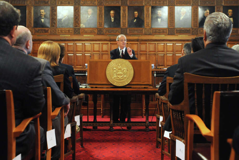 Chief Judge Jonathan Lippman announces a major pro bono initiative during Law Day being observed at the New York State Court of Appeals Tuesday, May 1, 2012 in Albany, N.Y. (Lori Van Buren / Times Union) Photo: Lori Van Buren