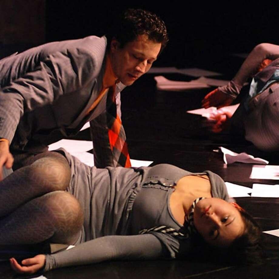 "Denis Semenov (left) and Veronika Kim of the Liquid Theatre ensemble from Russia in ""Antidot,"" coming to the S.F. International Arts Festival Photo: Vitaly Potapov"