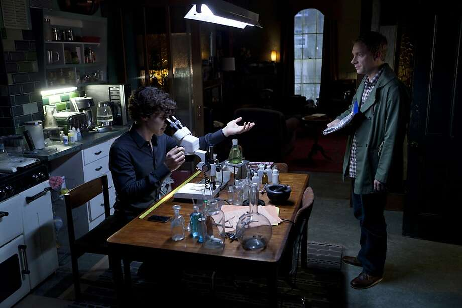 Sherlock, Series 2 On MASTERPIECE MYSTERY! Sundays, May 6, 13, and 20, 2012 at 9pm ET on PBS Sherlock Holmes and Dr. Watson are back for a new round of clever crime-solving in 21stcentury London in a series that USA Today hailed as Òunabashedly entertaining.Ó Benedict Cumberbatch returns in the title role, with Martin Freeman as his deadpan sidekick, Watson, and Andrew Scott as the mousy mastermind of evil, Jim Moriarty. Shown from L-R: Benedict Cumberbatch as Sherlock and Martin Freeman as Watson Photo: Colin Hutton, BBC/Hartswood Films For MASTERPI