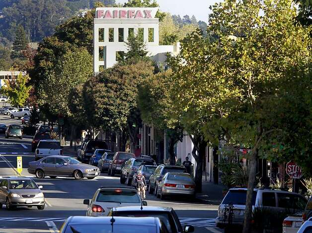 Fairfax on an autumn afternoon, busy with traffic, in central Marin County. Fairfax (Marin County) is among dozens of cities asking voters for money on November 8 with a proposed sales tax to fix up and maintain city services and properties. Photo: Brant Ward, The Chronicle