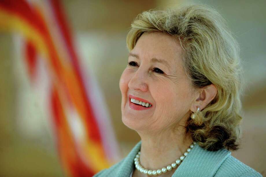 U.S. Sen. Kay Bailey Hutchison smiles as the Mission Concepción Portal of the San Antonio River Mission Reach project is dedicated to her on Tuesday, May 1, 2012. Sen. Hutchison, who has represented Texas since 1993, will leave office in January 2013. Photo: BILLY CALZADA, San Antonio Express-News / SAN ANTONIO EXPRESS-NEWS