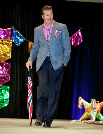 OTS/TRENDS/HEIDBRINK   Weatherman Bill Taylor walks the runway at the Woman's Club of San Antonio's hat contest and fashion show, a Fiesta event, at the Marriott Rivercenter Hotel. Photo by Jamie Karutz. Photo: Jamie Karutz / Special to the Express-News