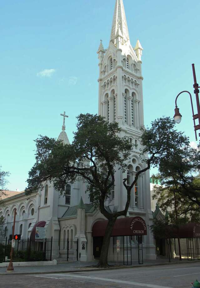 A steeple designed by Galveston's Nicholas Clayton (a Victorian architectural legend in these parts) is the focal point of Annunciation Catholic Church. Construction on the Romanesque structure began in 1867 and wasn't completed until 1884.