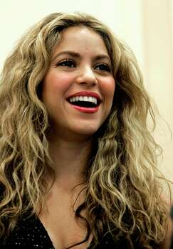 ** FILE ** In this April 22, 2008 file photo, Colombian singer Shakira is shown at a news conference on Capitol Hill in Washington for Global Campaign for Education Action Week. Photo: Susan Walsh, AP / AP