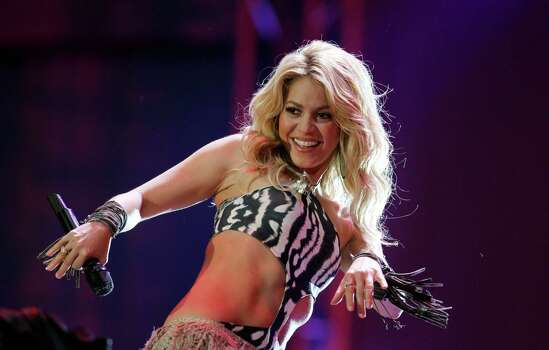 Columbian singer Shakira performs at the opening concert for the soccer World Cup at Orlando stadium in Soweto, South Africa, Thursday, June 10, 2010. The Soccer World Cup ikicks off on Friday, June 11. Photo: Hassan Ammar, AP / AP