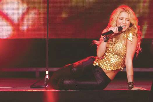 Shakira performs in concert at Madison Square Garden in New York, Tuesday, Sept. 21, 2010. Photo: Charles Sykes, AP / SYKEC