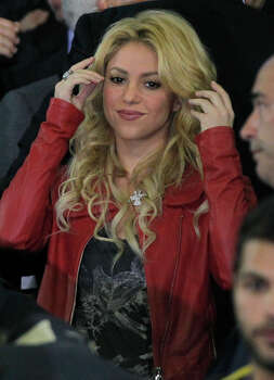 Shakira, Colombian singer and girlfriend of FC Barcelona's Gerard Pique looks out from the stands during the final of the Copa del Rey soccer match between Real Madrid and FC Barcelona at the Mestalla stadium in Valencia, Spain Wednesday April 20, 2011. Photo: Andres Kudacki, AP / AP