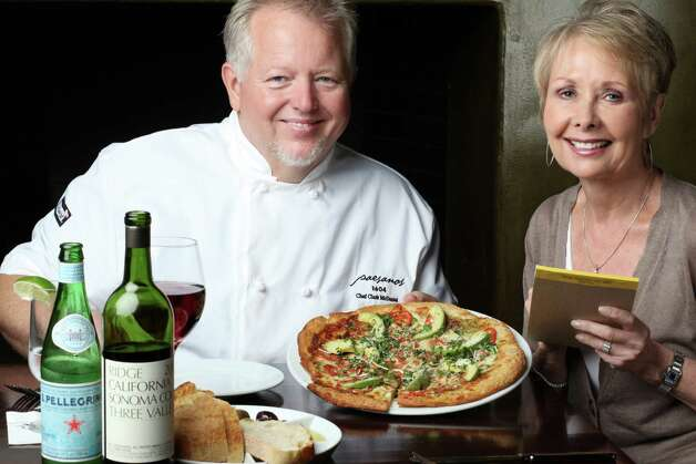 Pat Mozersky with Chef Clark McDaniel of Paesanos 1604 Photo: Courtesy