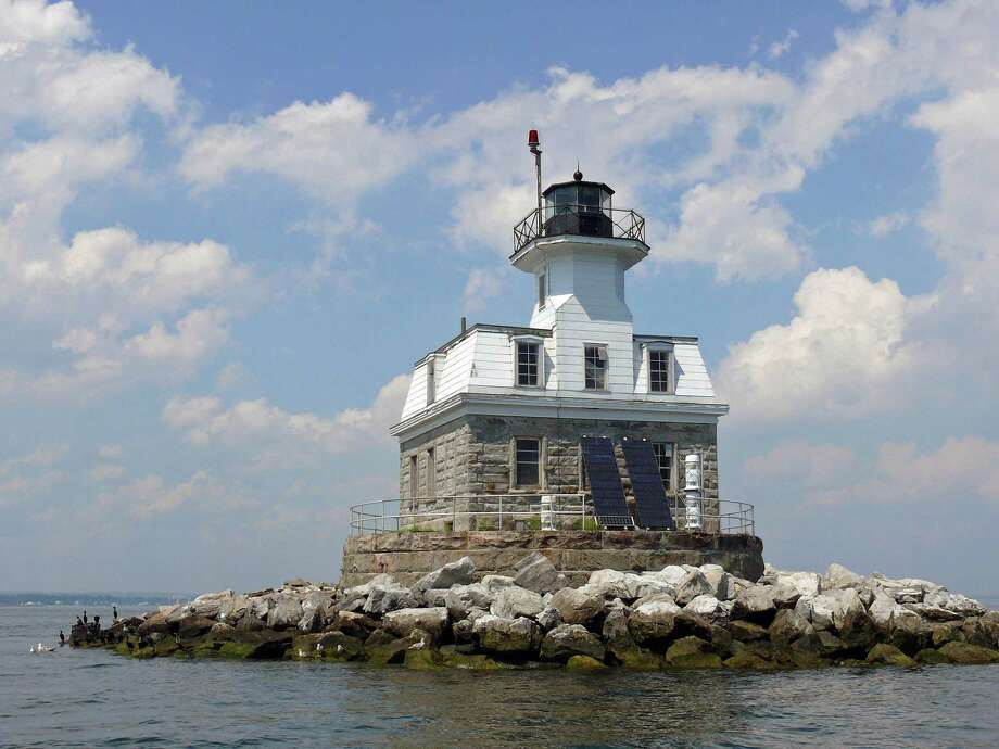 The Penfield Reef Lighthouse  is back on the federal auction block. Photo: Genevieve Reilly / Fairfield Citizen