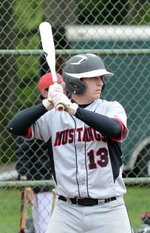 Fairfield Warde's Aaron Marks (13) at bat during the baseball game against New Canaan at Mead Park in New Canaan on Wednesday, May 2, 2012. Photo: Amy Mortensen / Connecticut Post Freelance