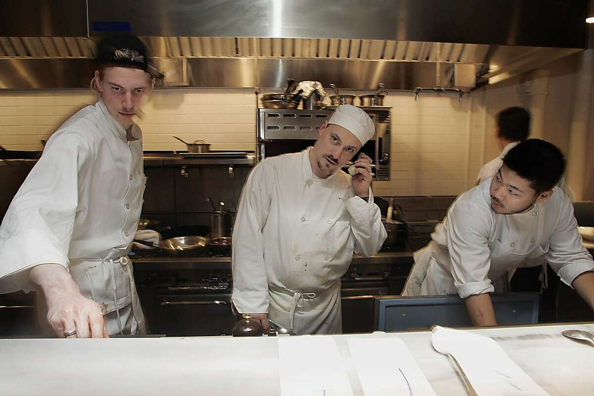 Salthouse is a new restaurant owned by the same team that opened Town Hall has Robert Leva (middle), the chef d' cuisine. Liz Hafalia/ sfcd.04 salthouse_199_LH.jpg