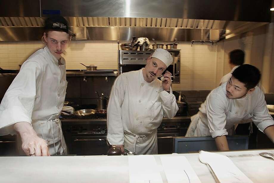 Salthouse is a new restaurant owned by the same team that opened Town Hall has Robert Leva (middle), the chef d' cuisine. Liz Hafalia/ sfcd.04 salthouse_199_LH.jpg Photo: Liz Hafalia, Sfc