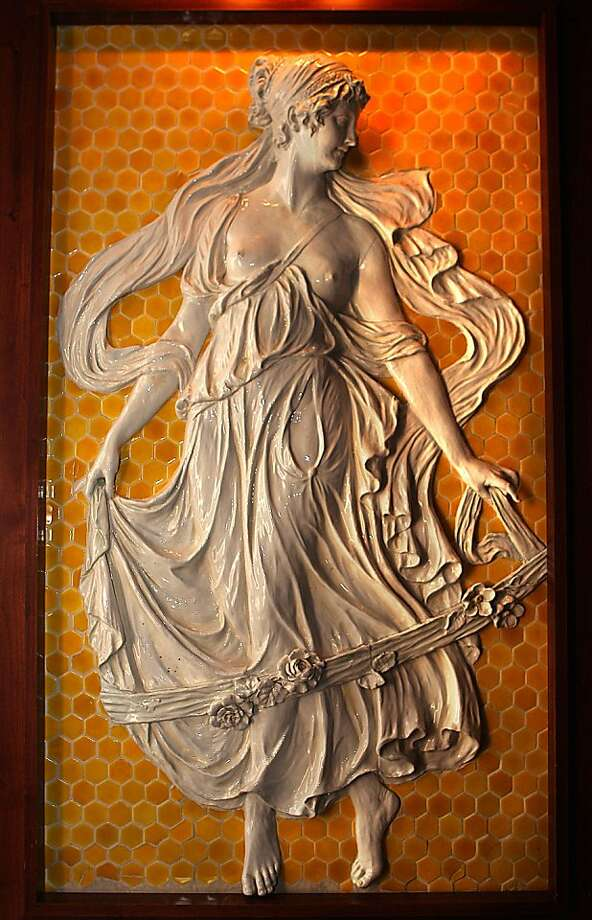 Ceramic muse originally located in Sutro baths commissioned by Adolph Sutro in the early 1890's from Italy, and is displayed at Sutro's in the Cliff house. Photo: Liz Hafalia, The Chronicle