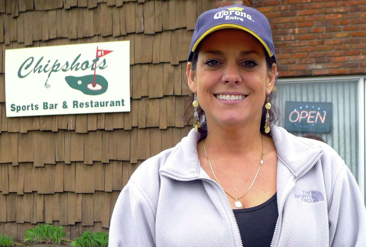 Chipshots Sports Bar & Restaurant manager Jennifer McCullough in front of the restaurant at the Colonie Golf Course in Colonie N.Y. Wednesday May 2, 2012. (Michael P. Farrell/Times Union)
