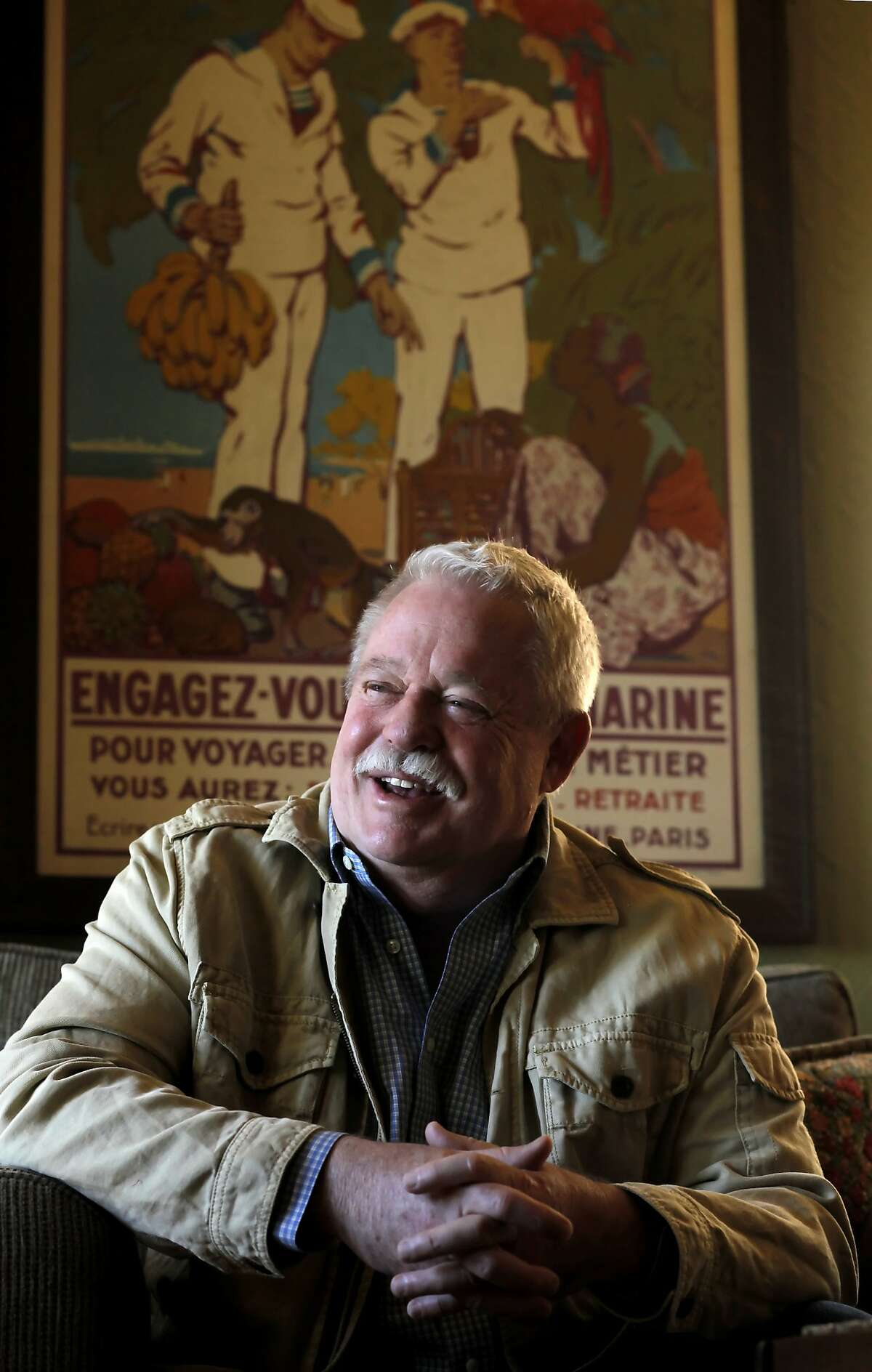 Tales of the City author Armistead Maupin talks about of his book being made as a musical, April 26, 2011, at his home in San Francisco, Calif. ACT is hosting the world premiere of the Tales of the City in May.