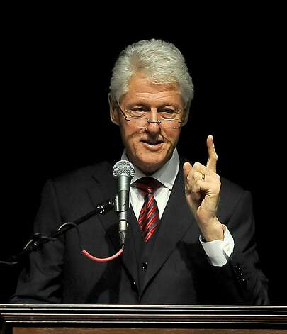 President Bill Clinton speaks during the West Texas A&M Distinguished Lecture Series Tuesday, April 24, 2012 at the First United Bank Center in Canyon, Texas. (AP Photo/Michael Norris, Amarillo Globe-News) Photo: Michael Norris / Amarillo Globe-, Associated Press