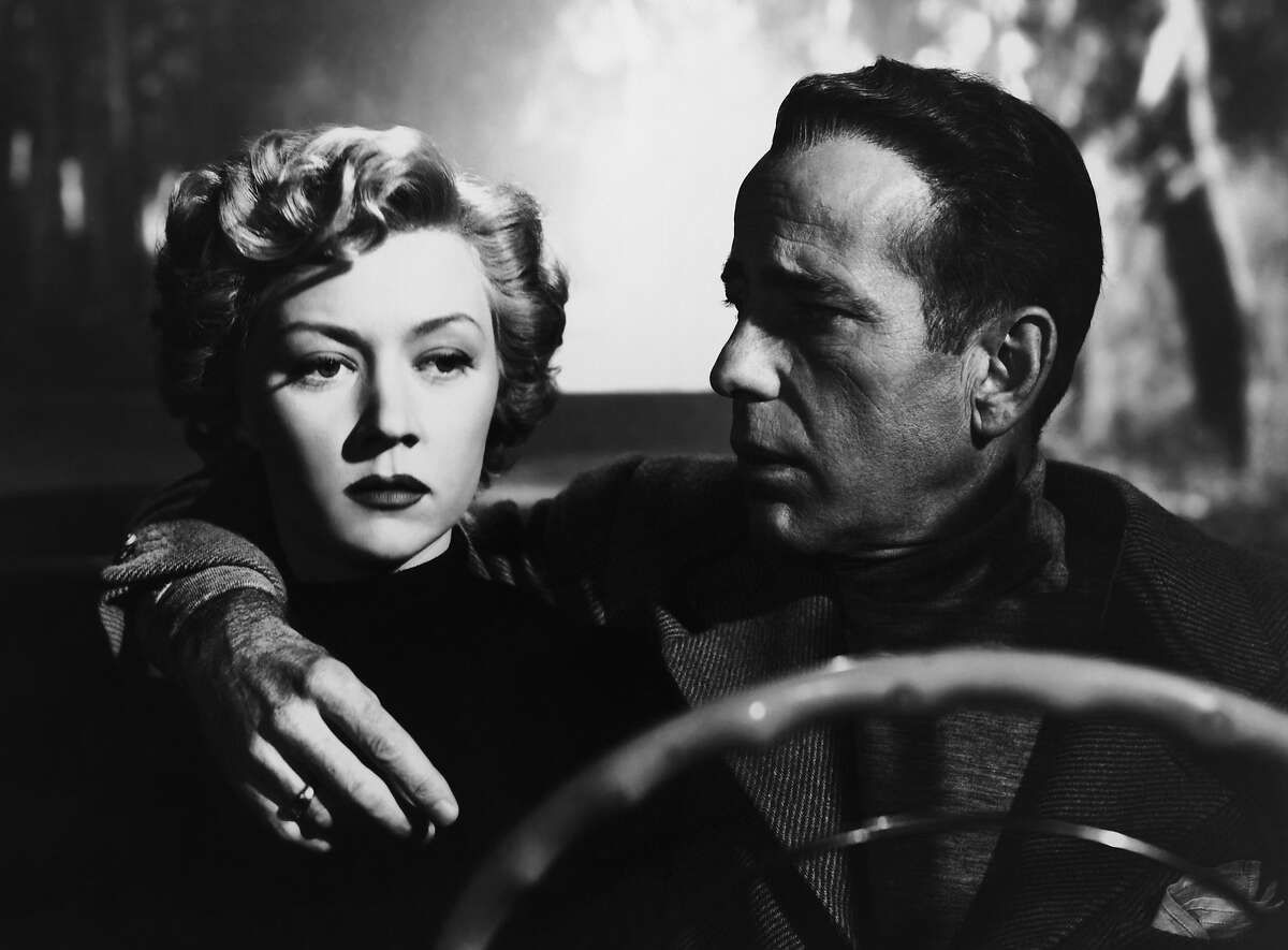 """Gloria Grahame and Humphrey Bogart in """"In a Lonely Place"""" Gloria Grahame and Humphrey Bogart in Nicholas Ray's IN A LONELY PLACE (1950). Courtesy Sony Pictures Repertory/Film Forum. Playing 7/17-7/23."""